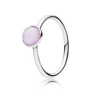 Pandora October Droplet Birthstone Ring